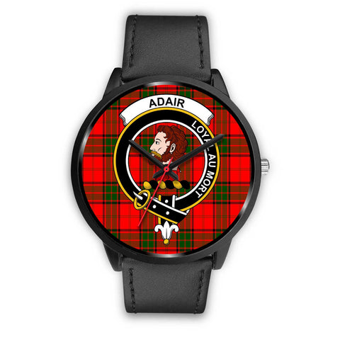 Adair Clans ,Black Metal Mesh watch, leather steel watch, tartan watch, tartan watches, clan watch, scotland watch, merry christmas, cyber Monday, halloween, black Friday