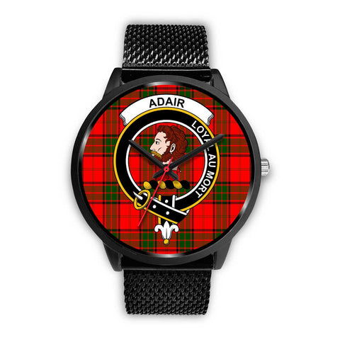 Adair Clans ,Rose Gold Metal Mesh watch, leather steel watch, tartan watch, tartan watches, clan watch, scotland watch, merry christmas, cyber Monday, halloween, black Friday