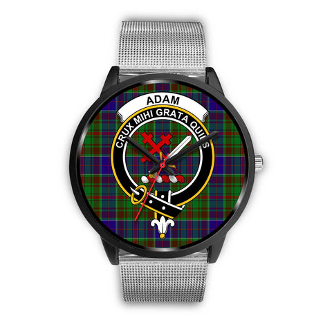 Adam Clans ,Rose Gold Metal Link watch, leather steel watch, tartan watch, tartan watches, clan watch, scotland watch, merry christmas, cyber Monday, halloween, black Friday