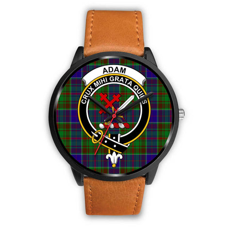 Adam Clans ,Pink Leather watch, leather steel watch, tartan watch, tartan watches, clan watch, scotland watch, merry christmas, cyber Monday, halloween, black Friday