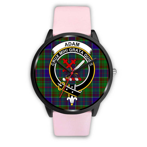 Adam Clans ,Silver Metal Link watch, leather steel watch, tartan watch, tartan watches, clan watch, scotland watch, merry christmas, cyber Monday, halloween, black Friday
