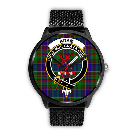 Adam Clans ,Rose Gold Metal Mesh watch, leather steel watch, tartan watch, tartan watches, clan watch, scotland watch, merry christmas, cyber Monday, halloween, black Friday
