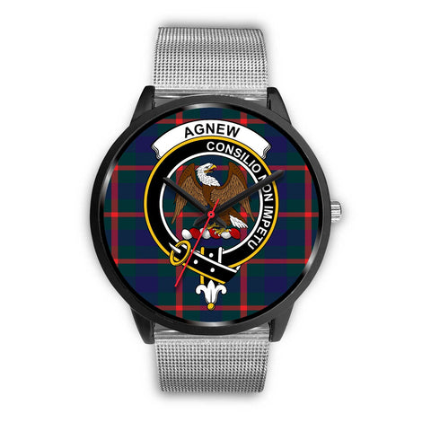 Agnew Modern Clans ,Silver Metal Link watch, leather steel watch, tartan watch, tartan watches, clan watch, scotland watch, merry christmas, cyber Monday, halloween, black Friday