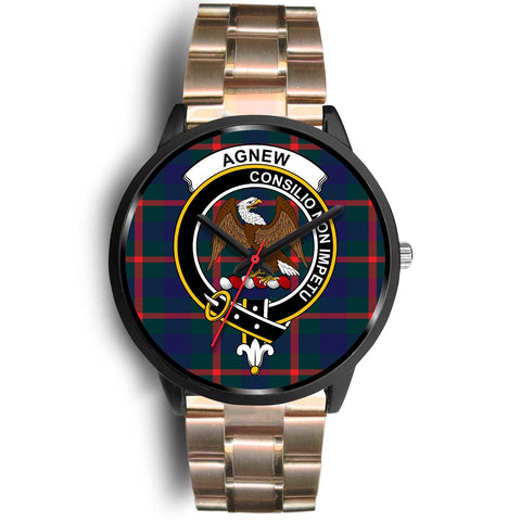 Agnew Modern Clans ,Black Metal Link watch, leather steel watch, tartan watch, tartan watches, clan watch, scotland watch, merry christmas, cyber Monday, halloween, black Friday