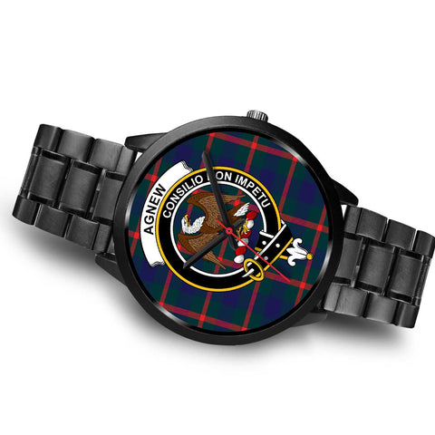 Agnew Modern Clans ,Brown Leather watch, leather steel watch, tartan watch, tartan watches, clan watch, scotland watch, merry christmas, cyber Monday, halloween, black Friday