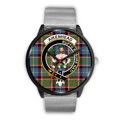 Aikenhead Clans ,Rose Gold Metal Link watch, leather steel watch, tartan watch, tartan watches, clan watch, scotland watch, merry christmas, cyber Monday, halloween, black Friday