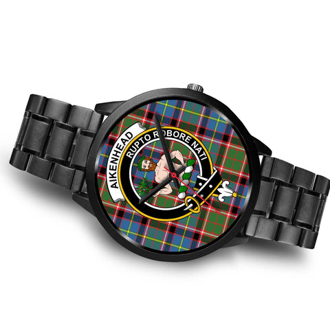 Aikenhead Clans ,Brown Leather watch, leather steel watch, tartan watch, tartan watches, clan watch, scotland watch, merry christmas, cyber Monday, halloween, black Friday