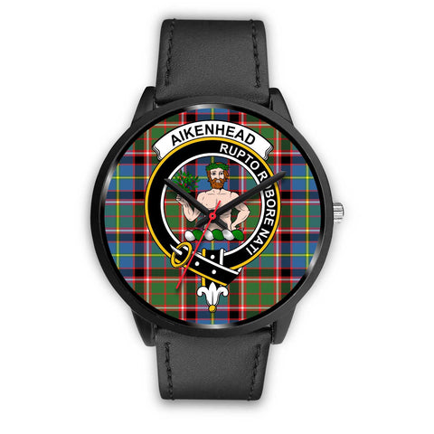 Aikenhead Clans ,Black Metal Mesh watch, leather steel watch, tartan watch, tartan watches, clan watch, scotland watch, merry christmas, cyber Monday, halloween, black Friday