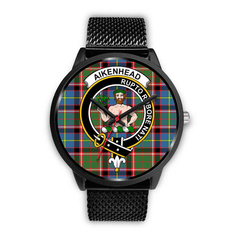 Aikenhead Clans ,Rose Gold Metal Mesh watch, leather steel watch, tartan watch, tartan watches, clan watch, scotland watch, merry christmas, cyber Monday, halloween, black Friday