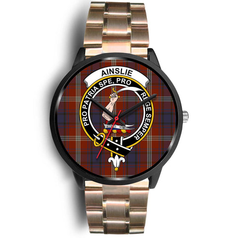 Ainslie Clans ,Black Leather watch, leather steel watch, tartan watch, tartan watches, clan watch, scotland watch, merry christmas, cyber Monday, halloween, black Friday