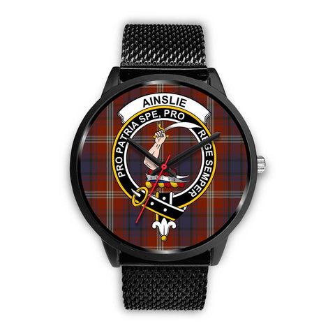 Ainslie Clans ,Rose Gold Metal Mesh watch, leather steel watch, tartan watch, tartan watches, clan watch, scotland watch, merry christmas, cyber Monday, halloween, black Friday