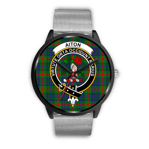 Aiton Clans ,Rose Gold Metal Link watch, leather steel watch, tartan watch, tartan watches, clan watch, scotland watch, merry christmas, cyber Monday, halloween, black Friday