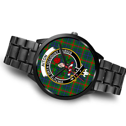 Aiton Clans ,Brown Leather watch, leather steel watch, tartan watch, tartan watches, clan watch, scotland watch, merry christmas, cyber Monday, halloween, black Friday