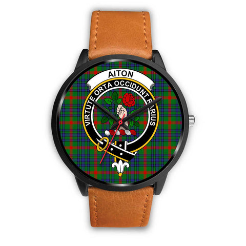 Aiton Clans ,Pink Leather watch, leather steel watch, tartan watch, tartan watches, clan watch, scotland watch, merry christmas, cyber Monday, halloween, black Friday