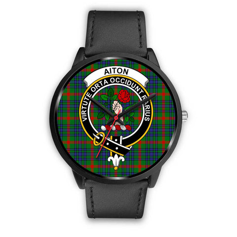 Aiton Clans ,Black Metal Mesh watch, leather steel watch, tartan watch, tartan watches, clan watch, scotland watch, merry christmas, cyber Monday, halloween, black Friday