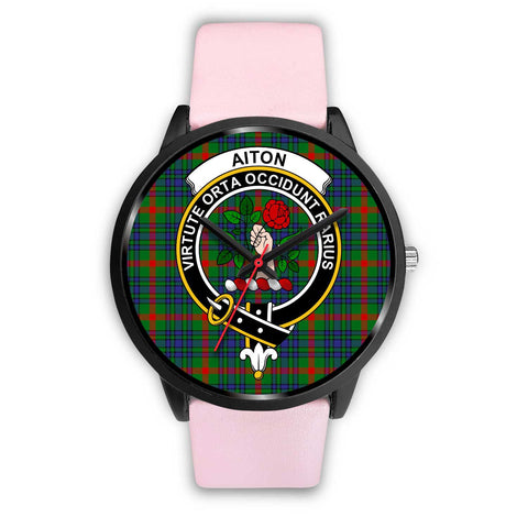Aiton Clans ,Silver Metal Link watch, leather steel watch, tartan watch, tartan watches, clan watch, scotland watch, merry christmas, cyber Monday, halloween, black Friday
