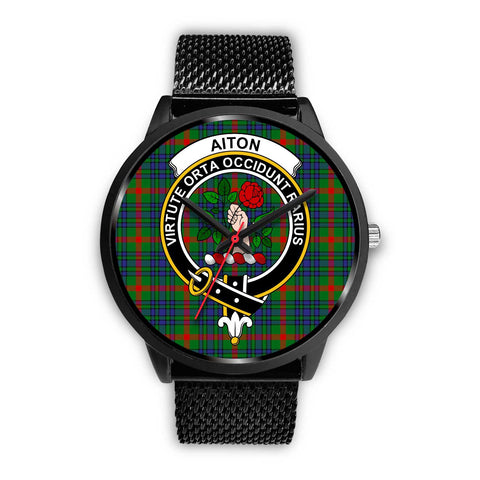 Aiton Clans ,Rose Gold Metal Mesh watch, leather steel watch, tartan watch, tartan watches, clan watch, scotland watch, merry christmas, cyber Monday, halloween, black Friday