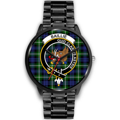 Baillie Modern Clans ,Black Metal Link watch, leather steel watch, tartan watch, tartan watches, clan watch, scotland watch, merry christmas, cyber Monday, halloween, black Friday