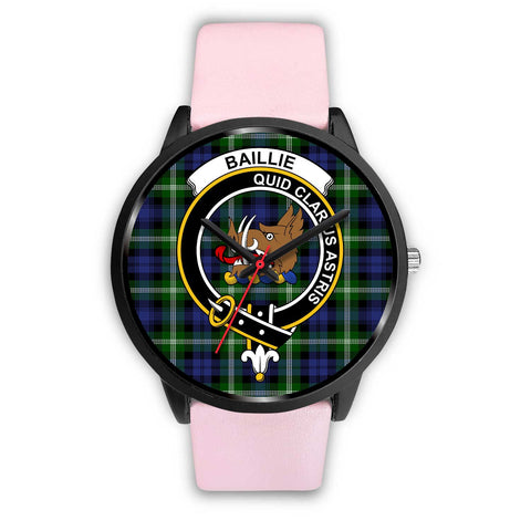 Image of Baillie Modern Clans ,Silver Metal Link watch, leather steel watch, tartan watch, tartan watches, clan watch, scotland watch, merry christmas, cyber Monday, halloween, black Friday