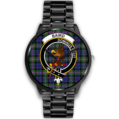 Baird Modern Clans ,Black Metal Link watch, leather steel watch, tartan watch, tartan watches, clan watch, scotland watch, merry christmas, cyber Monday, halloween, black Friday