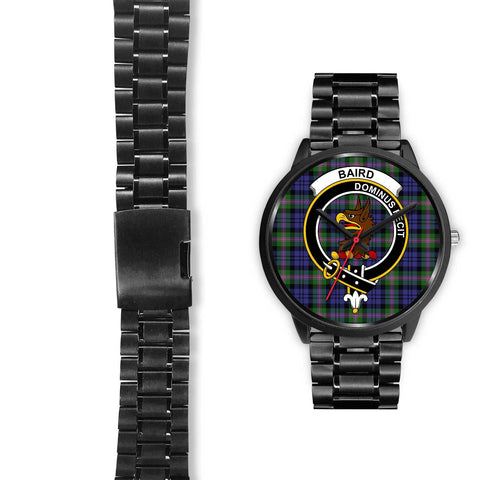 Baird Modern Clans ,Black Leather watch, leather steel watch, tartan watch, tartan watches, clan watch, scotland watch, merry christmas, cyber Monday, halloween, black Friday