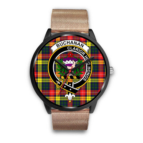 Buchanan Modern Clans ,Brown Leather watch, leather steel watch, tartan watch, tartan watches, clan watch, scotland watch, merry christmas, cyber Monday, halloween, black Friday