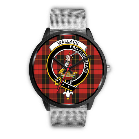 Wallace Weathered Clans ,Rose Gold Metal Link watch, leather steel watch, tartan watch, tartan watches, clan watch, scotland watch, merry christmas, cyber Monday, halloween, black Friday