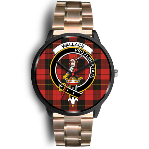 Wallace Weathered Clans ,Black Leather watch, leather steel watch, tartan watch, tartan watches, clan watch, scotland watch, merry christmas, cyber Monday, halloween, black Friday