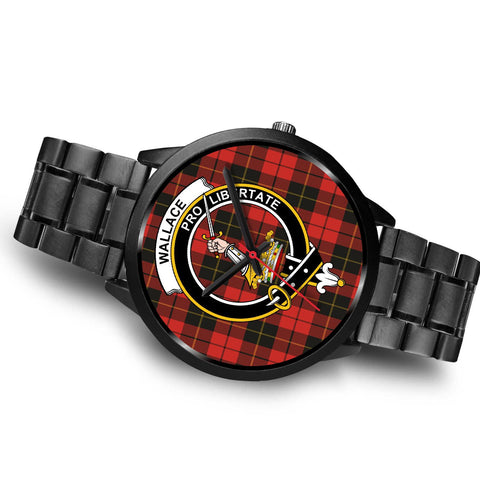 Wallace Weathered Clans ,Brown Leather watch, leather steel watch, tartan watch, tartan watches, clan watch, scotland watch, merry christmas, cyber Monday, halloween, black Friday