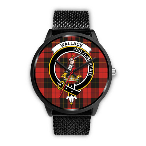 Wallace Weathered Clans ,Rose Gold Metal Mesh watch, leather steel watch, tartan watch, tartan watches, clan watch, scotland watch, merry christmas, cyber Monday, halloween, black Friday