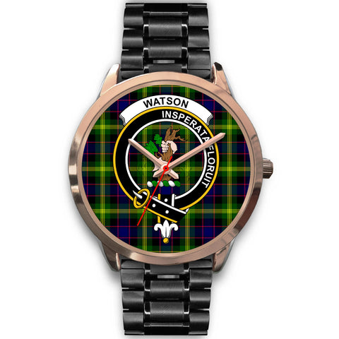 Image of Watson Modern, Rose Gold Metal Mesh Watch,  leather steel watch, tartan watch, tartan watches, clan watch, scotland watch, merry christmas, cyber Monday, halloween, black Friday