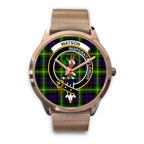 Watson Modern, Black Leather Watch,  leather steel watch, tartan watch, tartan watches, clan watch, scotland watch, merry christmas, cyber Monday, halloween, black Friday