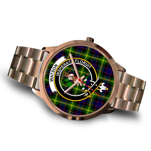 Watson Modern, Brown Leather Watch,  leather steel watch, tartan watch, tartan watches, clan watch, scotland watch, merry christmas, cyber Monday, halloween, black Friday