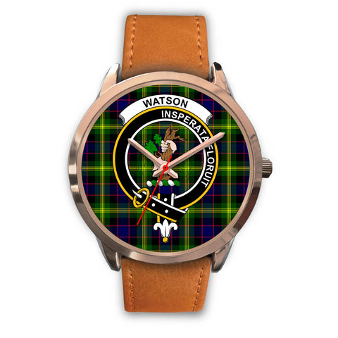 Watson Modern, Pink Leather Watch,  leather steel watch, tartan watch, tartan watches, clan watch, scotland watch, merry christmas, cyber Monday, halloween, black Friday