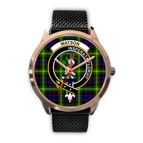 Watson Modern, Silver Metal Link Watch,  leather steel watch, tartan watch, tartan watches, clan watch, scotland watch, merry christmas, cyber Monday, halloween, black Friday
