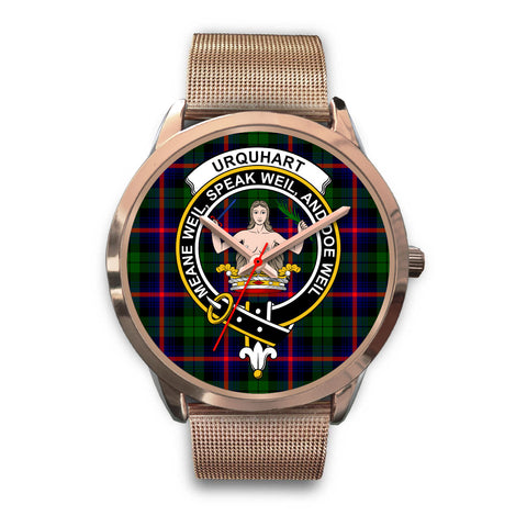 Urquhart Modern, Black Leather Watch,  leather steel watch, tartan watch, tartan watches, clan watch, scotland watch, merry christmas, cyber Monday, halloween, black Friday