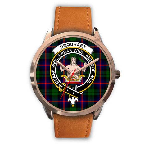 Urquhart Modern, Pink Leather Watch,  leather steel watch, tartan watch, tartan watches, clan watch, scotland watch, merry christmas, cyber Monday, halloween, black Friday