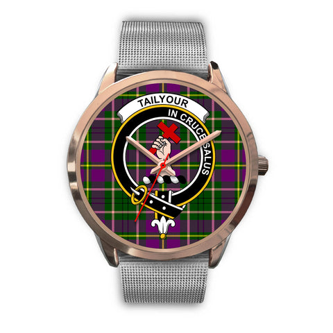 Image of Taylor, Rose Gold Metal Link Watch,  leather steel watch, tartan watch, tartan watches, clan watch, scotland watch, merry christmas, cyber Monday, halloween, black Friday