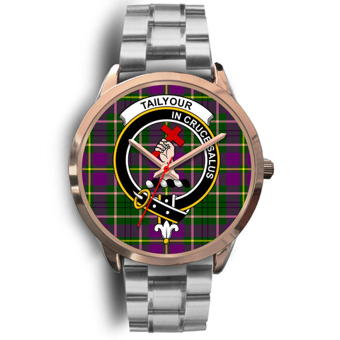 Taylor, Brown Leather Watch,  leather steel watch, tartan watch, tartan watches, clan watch, scotland watch, merry christmas, cyber Monday, halloween, black Friday