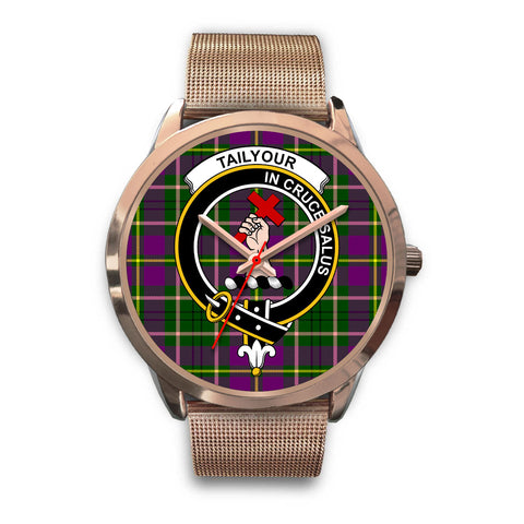 Image of Taylor, Black Leather Watch,  leather steel watch, tartan watch, tartan watches, clan watch, scotland watch, merry christmas, cyber Monday, halloween, black Friday