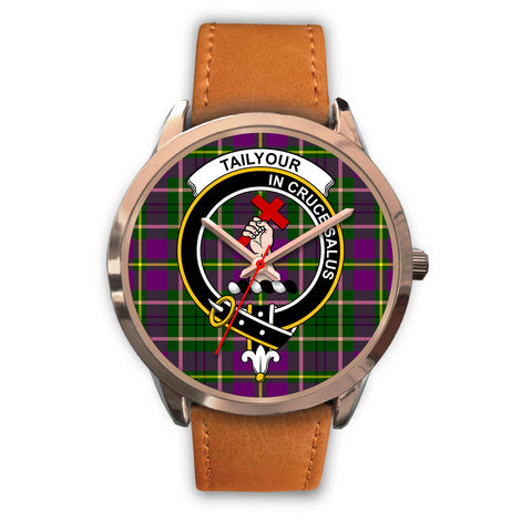 Image of Taylor, Pink Leather Watch,  leather steel watch, tartan watch, tartan watches, clan watch, scotland watch, merry christmas, cyber Monday, halloween, black Friday