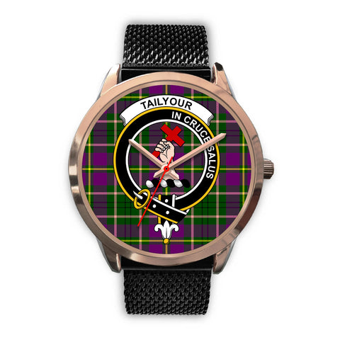 Image of Taylor, Silver Metal Link Watch,  leather steel watch, tartan watch, tartan watches, clan watch, scotland watch, merry christmas, cyber Monday, halloween, black Friday