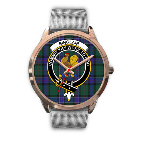 Sinclair Hunting Modern, Rose Gold Metal Link Watch,  leather steel watch, tartan watch, tartan watches, clan watch, scotland watch, merry christmas, cyber Monday, halloween, black Friday