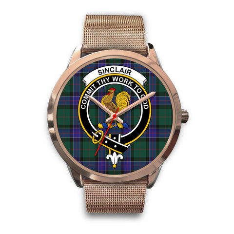 Sinclair Hunting Modern, Black Leather Watch,  leather steel watch, tartan watch, tartan watches, clan watch, scotland watch, merry christmas, cyber Monday, halloween, black Friday
