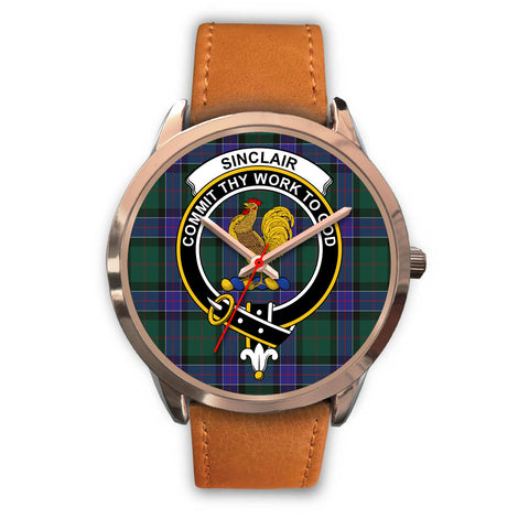 Sinclair Hunting Modern, Pink Leather Watch,  leather steel watch, tartan watch, tartan watches, clan watch, scotland watch, merry christmas, cyber Monday, halloween, black Friday