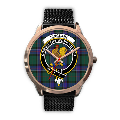 Sinclair Hunting Modern, Silver Metal Link Watch,  leather steel watch, tartan watch, tartan watches, clan watch, scotland watch, merry christmas, cyber Monday, halloween, black Friday