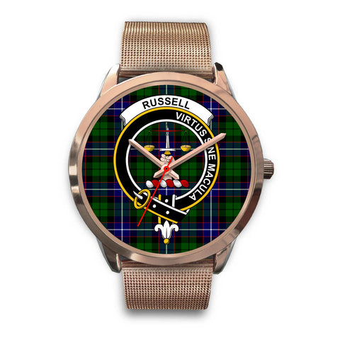 Russell, Black Leather Watch,  leather steel watch, tartan watch, tartan watches, clan watch, scotland watch, merry christmas, cyber Monday, halloween, black Friday