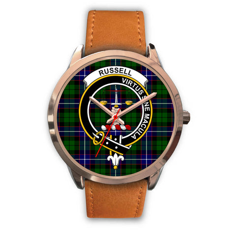 Russell, Pink Leather Watch,  leather steel watch, tartan watch, tartan watches, clan watch, scotland watch, merry christmas, cyber Monday, halloween, black Friday