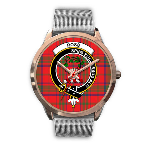 Ross Modern, Rose Gold Metal Link Watch,  leather steel watch, tartan watch, tartan watches, clan watch, scotland watch, merry christmas, cyber Monday, halloween, black Friday