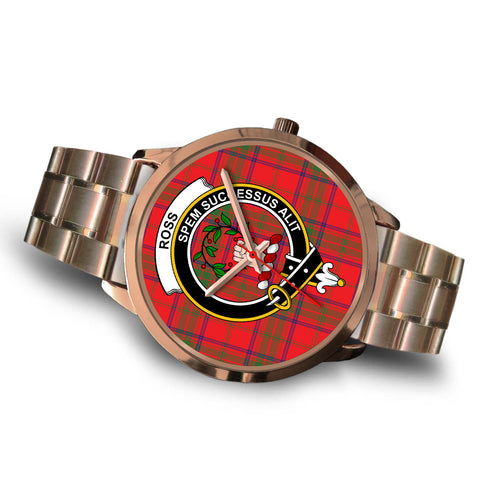 Ross Modern, Brown Leather Watch,  leather steel watch, tartan watch, tartan watches, clan watch, scotland watch, merry christmas, cyber Monday, halloween, black Friday